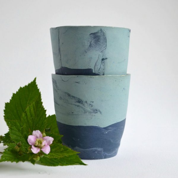 """Kaffeebecher """"turquoise and blue"""""""